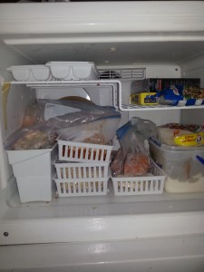 Individual packets in freezer